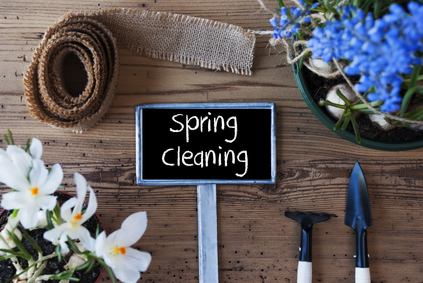 spring cleaning signs